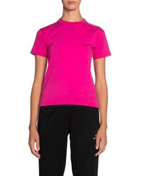 Balenciaga Copyright Fitted Jersey Tee - Pink
