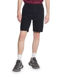 Balenciaga Men's Cotton-twill Cargo Shorts - Blue