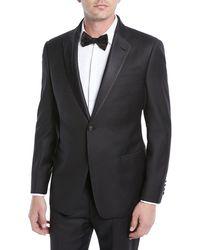 Emporio Armani Super 130s Wool Two-piece Tuxedo - Black