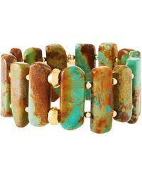 Devon Leigh Turquoise Stretch Bracelet - Multicolor