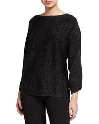 Eileen Fisher - Sparkle Bateau-neck Sweater - Lyst
