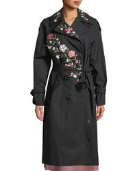 Kate Spade - Laurelle Floral Embroidery Long Coat - Lyst