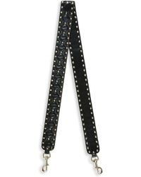 ab38143be96 Valentino - Rockstud Leather Guitar Strap For Handbag - Lyst