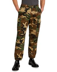 Purple Men's Camo Cargo Pants - Green