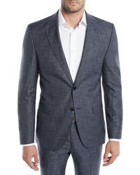 BOSS - Men's Melange Wool-silk Two-piece Suit - Lyst