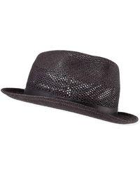 d24b42e5288 Lyst - Paul Smith Men s Mohair-band Trilby Hat in Black for Men