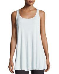 Eileen Fisher - Scoop-neck Stretch Silk Jersey Tunic Petite - Lyst