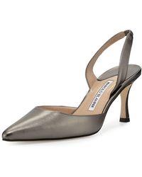 Manolo Blahnik Carolyne Leather Mid-heel 70mm Halter Pumps - Multicolour