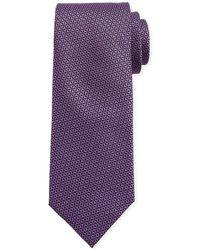 Canali - Men's Star-weave Silk Tie Purple - Lyst