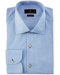 Ike Behar - Marcus Solid Cotton Barrel-cuff Dress Shirt - Lyst