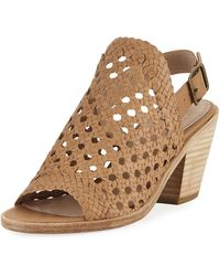 Eileen Fisher - Rory Woven Leather Slingback Sandal - Lyst