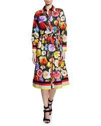 a268e63f601 Alice + Olivia - Hiroko Blouson Sleeve Shirt Dress - Lyst