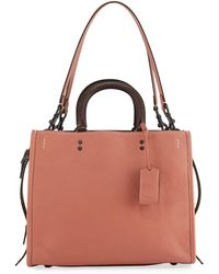 COACH - Rogue Small Leather Tote Bag - Lyst