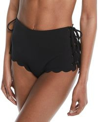 Marysia Swim - Palm Springs Tie-sides High-waist Textured Swim Bikini Bottoms - Lyst
