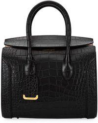 Alexander McQueen | Heroine 35 Small Croc-embossed Leather Tote Bag | Lyst