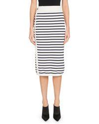 Altuzarra Enya Button-side Awning-stripe Midi Skirt - Multicolor