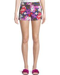 Trina Turk - Corbin Greenhouse Floral-print Shorts - Lyst