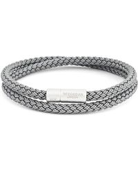 Tateossian Rubber Cable Bracelet - Gray