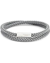 Tateossian Men's Cable Double-wrap Bracelet, Grey - Gray