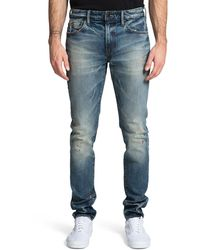 PRPS Men's Windsor Skinny Jeans With Paint Spots - Blue