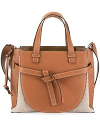 Loewe - Gate Small Leather Top-handle Tote Bag - Lyst