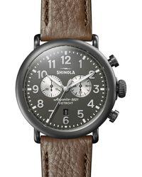 Shinola - Men's 47mm Runwell Chronograph Watch - Gunmetal Case - Lyst