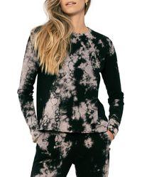 Sol Angeles Marble Crop Pullover - Black