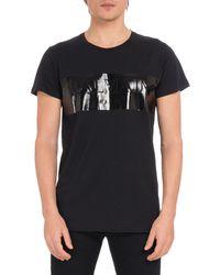 Balmain - Men's Laminated Logo Crewneck Short-sleeve Cotton T-shirt - Lyst