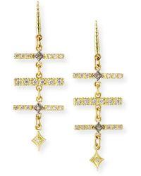 Armenta Old World Diamond Triple-bar Earrings - Metallic