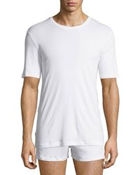 Hanro - Sea Island Cotton Crewneck Tee - Lyst