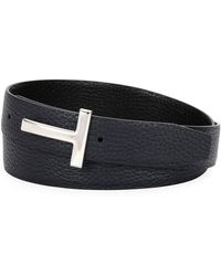Tom Ford - T-buckle Reversible Leather Belt - Lyst