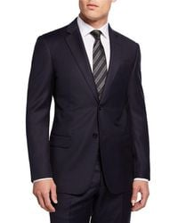 Emporio Armani Super 130s Check Wool Two-piece Suit - Purple