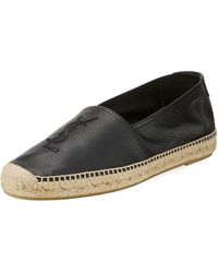 0c1ff2b78d8 Saint Laurent Black Leather Wing Driving Ycone Loafers in Black for ...