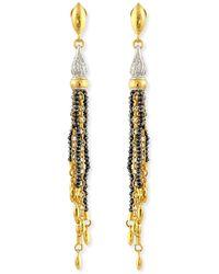Gurhan - Sultan Collection White & Black Diamond Tassel Earrings - Lyst