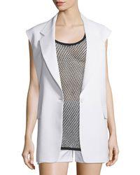 DKNY - Crepe Oversized Open-back Vest - Lyst