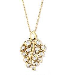Tamara Comolli Snowflakes Diamond Pendant In 18k Yellow Gold - Metallic