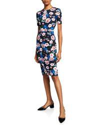 Erdem - Essie Short-sleeve Round-neck Cut-waist Dress - Lyst