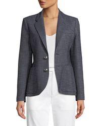 Emporio Armani - Two-button Classic Jacket W/ Dart Seams - Lyst