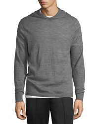 Vince - Hooded Wool Pullover Sweater - Lyst
