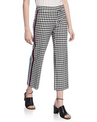10 Crosby Derek Lam Straight-leg Pants With Tuxedo Stripes - Black
