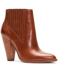Frye Remy Heeled Leather Chelsea Booties - Brown