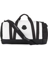 Moncler Men's Nylon Canvas Zip-top Duffel Bag - Multicolor