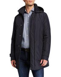 Canali - Men's Hooded Tech Rain Coat - Lyst