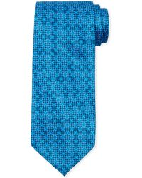 Stefano Ricci Men's Medium Medallion Floral Silk Tie - Blue