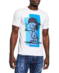 d9b0a55be54 Lyst - Iceberg Men s Peanuts Snoopy Flight Graphic T-shirt in White ...