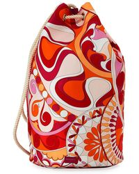 Emilio Pucci - Nigeria Printed Oversized Bucket Bag - Lyst