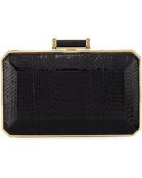 a7f46983f451 Judith Leiber - Soho Snakeskin Box Clutch Bag - Lyst