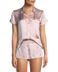 Josie Natori - Essential Silk Shorty Pajama Set - Lyst