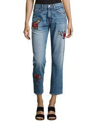 Joie - Josie Patched Denim Jeans - Lyst