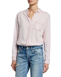 Rails - Ingrid Raw-edge Button-front Top - Lyst
